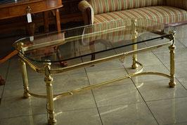 Nádherný zlatý stolík so sklom
