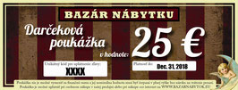 Darčeková poukážka - 25 EUR