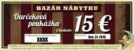 Darčeková poukážka - 15 EUR