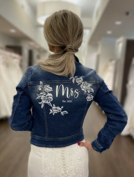 AYW-A005 Mrs jacket white soft flowers