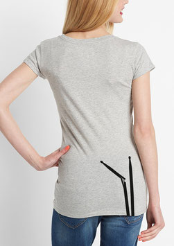 WOMEN BD T-SHIRT MELANGE GREY