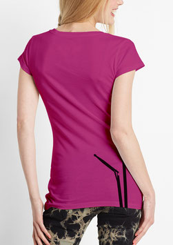 WOMEN BD T-SHIRT RASPBERRY