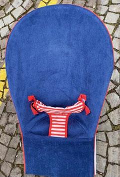 Wippe Blau rot gestreift