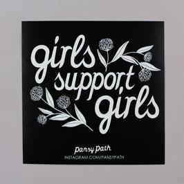 """,,GIRLS SUPPORT GIRLS"""" STICKER"""