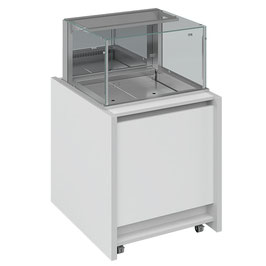 MS Glass Display Chill 2/1GN