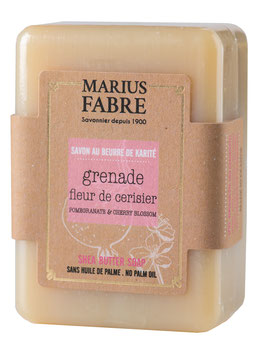 Marius Fabre Seife Granatapfel und Kirschblüte, mit Olivenöl und Sheabutter