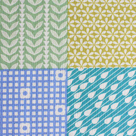 'Garden-Pattern Squares' bunt/natur Art.-Nr. 157/A