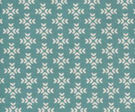 'Garden-Cross Print' türkis/natur Art.-Nr. 164/A