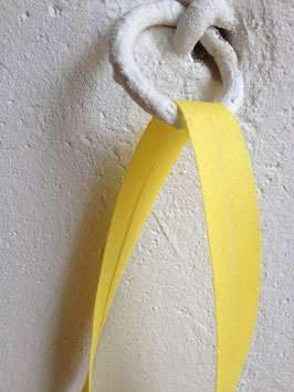 Schrägband uni, gelb