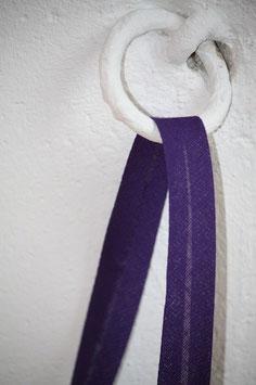 Schrägband uni, violett