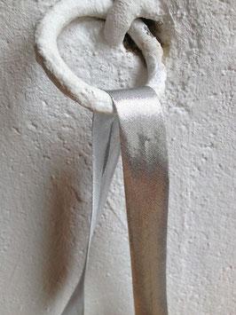 Schrägband, silber