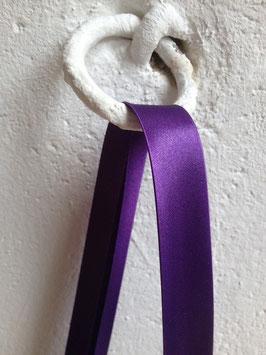 Satin Schrägband, violett