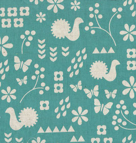 'Garden-Critter Stamp' türkis/natur Art.-Nr. 154/A
