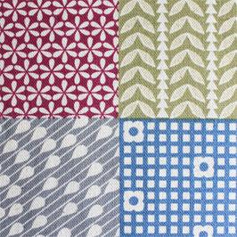 'Garden-Pattern Squares' bunt/natur Art.-Nr. 158/B
