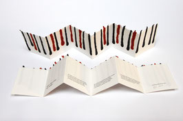 """Heft aus handgeschöpftem Papier mit dem Gedicht """"Der Panther"""" von Rainer Maria Rilke"""