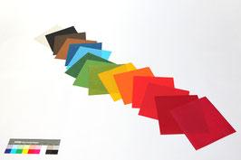 """Origami-Set """"Regenbogen 3"""" mit 15 Blättern handgeschöpftem Papier aus Abaka, 19 x 19 cm"""