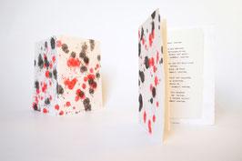 """Heft aus handgeschöpftem Papier mit dem Gedicht """"Es kribbelt und wibbelt weiter"""" von Theodor Fontane"""