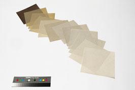 """Origami-Set """"Flachs"""" mit 12 Blättern handgeschöpftem Papier aus Flachs, 19 x 19 cm"""