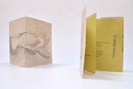 """Heft aus handgeschöpftem Papier mit dem Gedicht """"Vorfrühling""""  von Rainer Maria Rilke"""