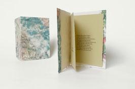 """Heft aus handgeschöpftem Papier mit dem Gedicht """"Seifenblasen"""" von Theodor Fontane"""