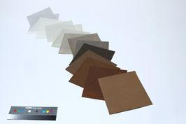 """Origami-Set """"Tiere """" mit 15 Blättern handgeschöpftem Papier aus Abaka, 19 x 19 cm"""