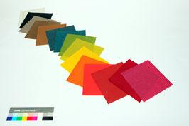 """Origami-Set """"Regenbogen 4"""" mit 15 Blättern handgeschöpftem Papier aus Abaka, 19 x 19 cm"""