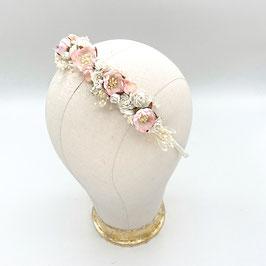 Romantischer Haarreif / Haarband / Blumenkranz für die Hochzeit -  Rosenrot