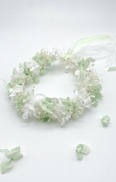 Wedding Flower Crown - Blumenkranz  - Brautkranz Hortensientraum - aus echten Blüten