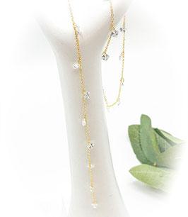Kette - Rückenkette mit Kristallen
