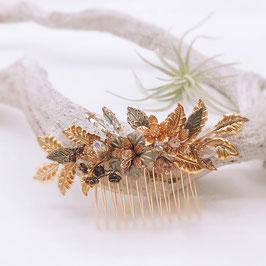Haarkamm für zum Vintage Brautkleid - Gold (Einzelstück)
