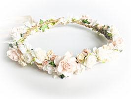Blumenkranz Creme zum Vintage Brautkleid