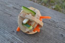 Spiel- u. Snackball aus Holz