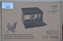 Legenest 2 Abteile mit Kunststoffboden
