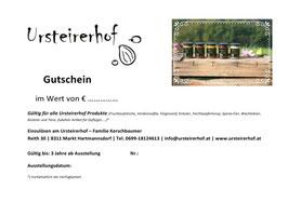 Ursteirerhof Gutscheine 10 €