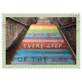 Postkarte Every Step