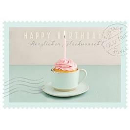 Postkarte Happy Birthday - Herzlichen Glückwunsch