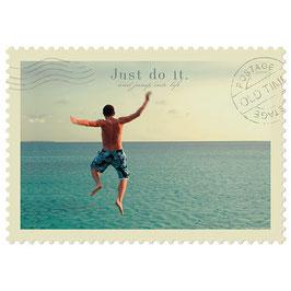 Postkarte Just do it