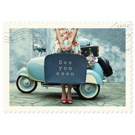 Postkarte See you soon