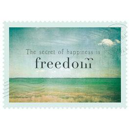 Postkarte Freedom