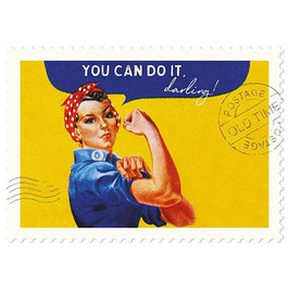 Postkarte You can do it. darling!