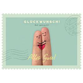 Postkarte Glückwunsch - gut gemacht