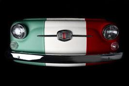 Front FIAT 500 Kunstleder tricolore