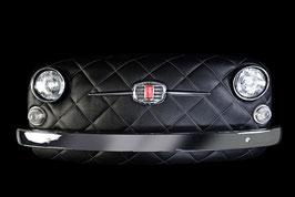 Front FIAT 500 Kunstleder schwarz