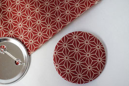 IROIRO Brooch ASANOHA Red