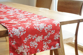 YASUO Table runner Asanoha Navy & Yozakura Red