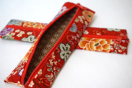 Pencil case ENPITSU Hanazono Red