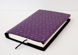 Buchhülle TOSHO Asanoha violett