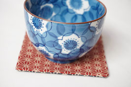 DOZO Coaster Asanoha Red