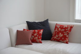 SHIKAKU Cushion Asanoha Red