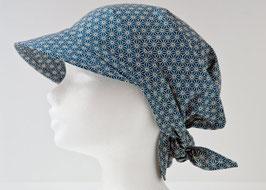 Headscarf SORA Asanoha Petrol blue